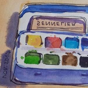 Boîte d'aquarelle.